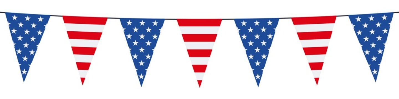 Banner. Garlands, pennants. USA