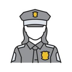 Policewoman color icon