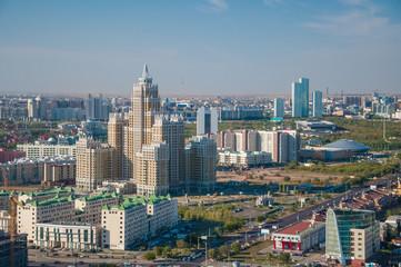 Kazakhstan, Astana,  drone aerial panoramic view 31, August 2012