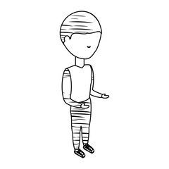 sketch of avatar man wearing sport clothes icon over white background vector illustration