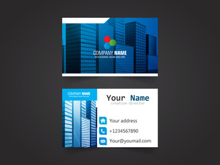 Business card design template vector