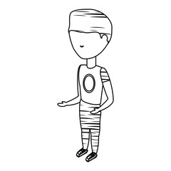 avatar man wearing casual clothes standing icon over white background vector illustration