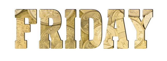 Friday, golden coins texture