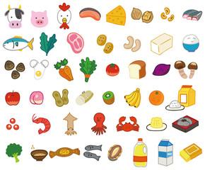色んな食材・食品のイラスト素材セット