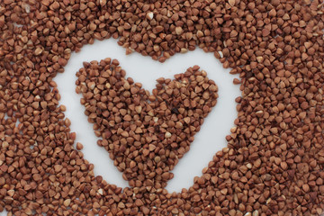 heart made of crops