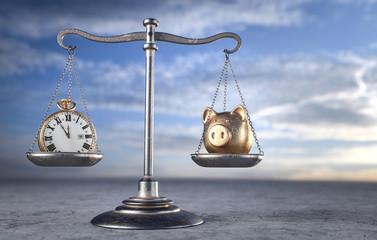 Zeit Geld im Gleichgewicht