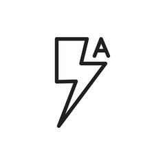 auto lightning camera outlined vector icon. Modern simple isolated sign. Pixel perfect vector  illustration for logo, website, mobile app and other designs