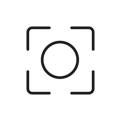 camera caption outlined vector icon. Modern simple isolated sign. Pixel perfect vector  illustration for logo, website, mobile app and other designs