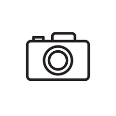 pocket camera  outlined vector icon. Modern simple isolated sign. Pixel perfect vector  illustration for logo, website, mobile app and other designs