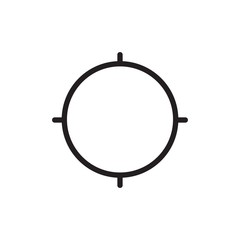 target outlined vector icon. Modern simple isolated sign. Pixel perfect vector  illustration for logo, website, mobile app and other designs