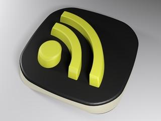 WiFi logo - 3D rendering
