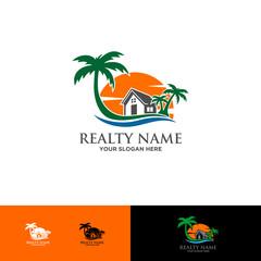 beach house travel logo
