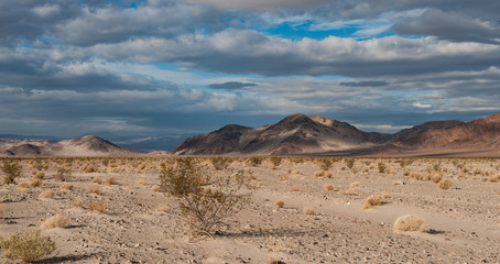 Death Valley desert landscape in southern California