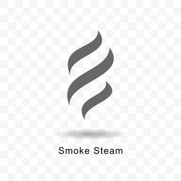 Smoke steam icon.