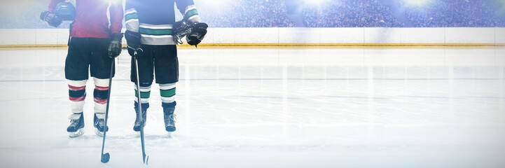 Composite image of hockey