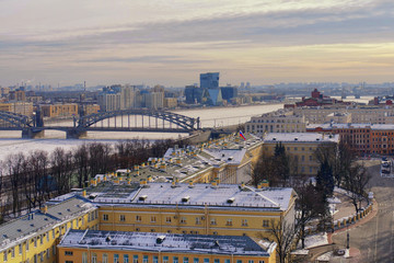View of St. Petersburg from the observation deck of the Smolny C