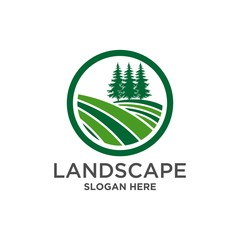agriculture logo, landscape logo icon