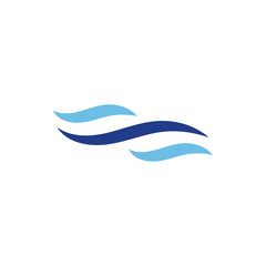 Abstract water waves logo design concept