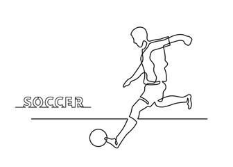 one line soccer