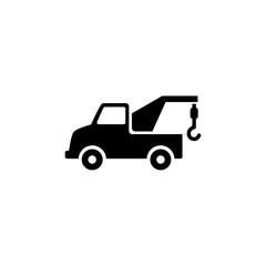 Evacuator. Flat Vector Icon. Simple black symbol on white background