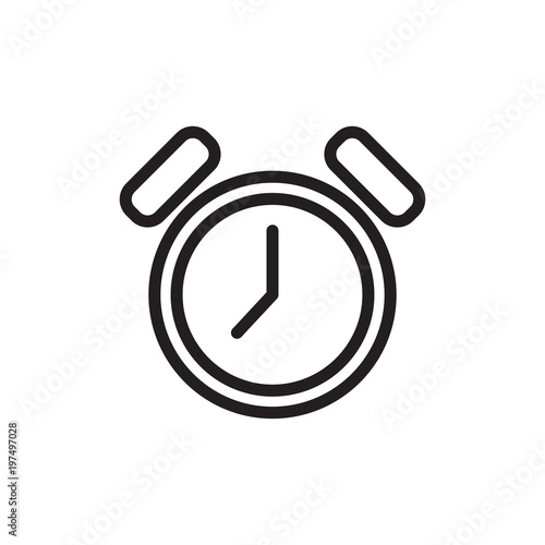 alarm clock outlined vector icon  Modern simple isolated sign  Pixel