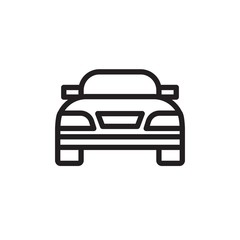 moving car, moving sedan car outlined vector icon. Modern simple isolated sign. Pixel perfect vector  illustration for logo, website, mobile app and other designs