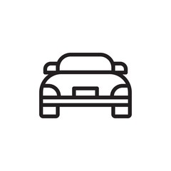 sports car outlined vector icon. Modern simple isolated sign. Pixel perfect vector  illustration for logo, website, mobile app and other designs