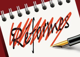 réforme - changement - grève - acquis sociaux - réformes - manifestation - fonctionnaire - politique