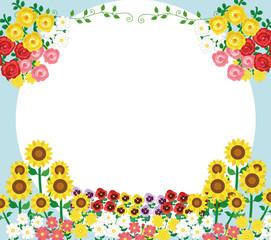 花のフレーム素材