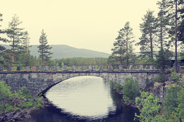 Tinnsja lake and bridge, Norway