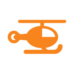 Helicopter vector icon eps 10. Simple isolated illustration.