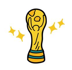 ワールドカップのトロフィーのイラスト素材