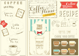 Template Menu for Coffee House