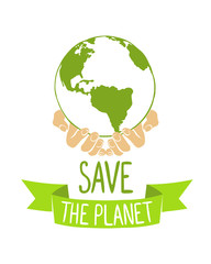 Earth in hands. Save the planet.