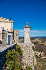 Lussan, Gard, Occitanie, France.