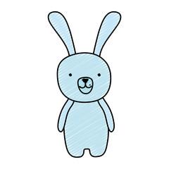 doodle cute cartoon rabbit male animal
