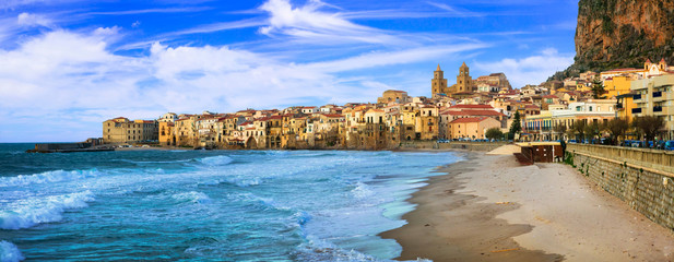 Cefalu - beautiful coastal town in Sicily, Italy