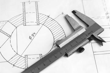 Measuring instrument caliper