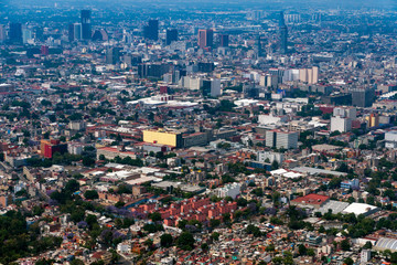 mexico city aerial view cityscape panorama