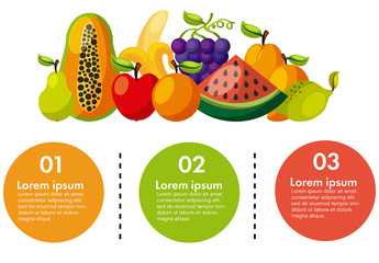 Infographic with Illustrations of Fruit