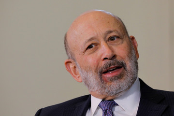 Blankfein, CEO of Goldman Sachs, speaks at the Boston College Chief Executives Club luncheon in Boston