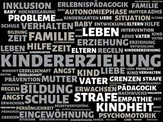 KINDERERZIEHUNG - Bilder mit Wörtern aus dem Bereich Kindererziehung, Wort, Bild, Illustration
