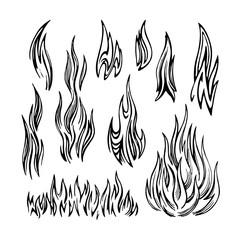 Flame Fire Set sketch