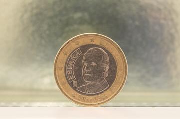 1 euro Spanish coin