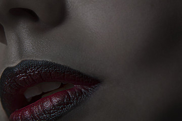 red and black lips