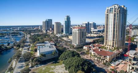 Wall Mural - Aerial view of St Petersburg skyline, Florida