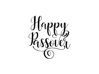 Happy Passover. traditional Jewish Holiday handwritten text, vector illustration for greeting cards, banners, graphic design.