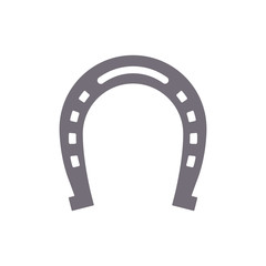 Horseshoe vector silhouette, isolated.