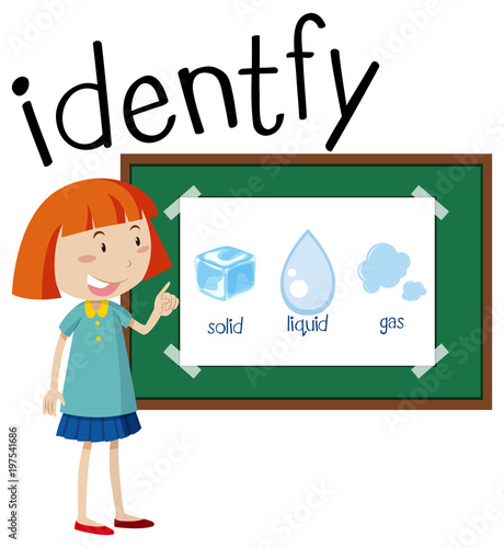 wordcard for identify with girl and different mass stock image and rh fotolia com Book Clip Art Boiling Water Clip Art