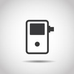 Breathalyzer image on a gray background. Line design